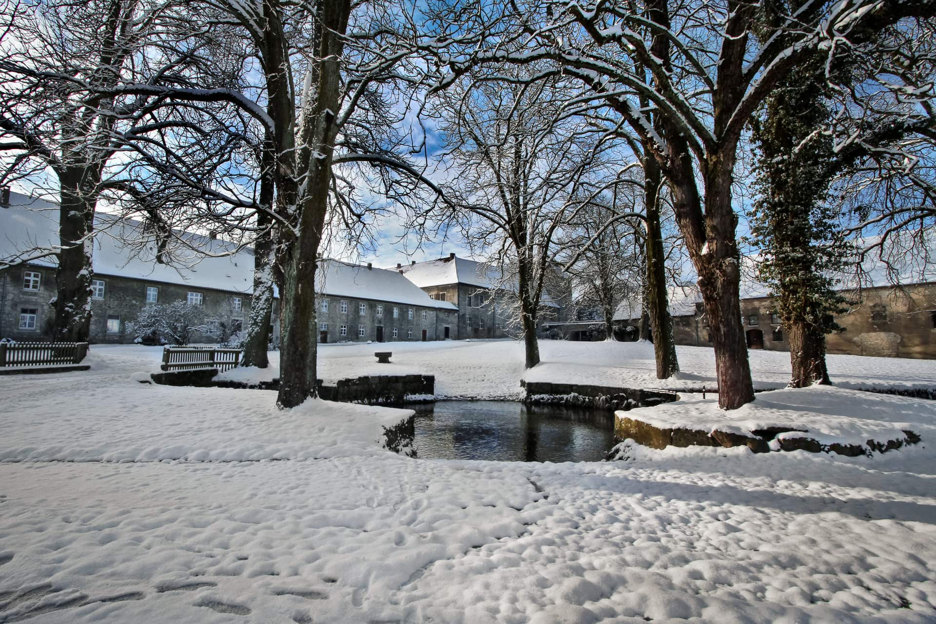 Winter im Rittergut Lucklum